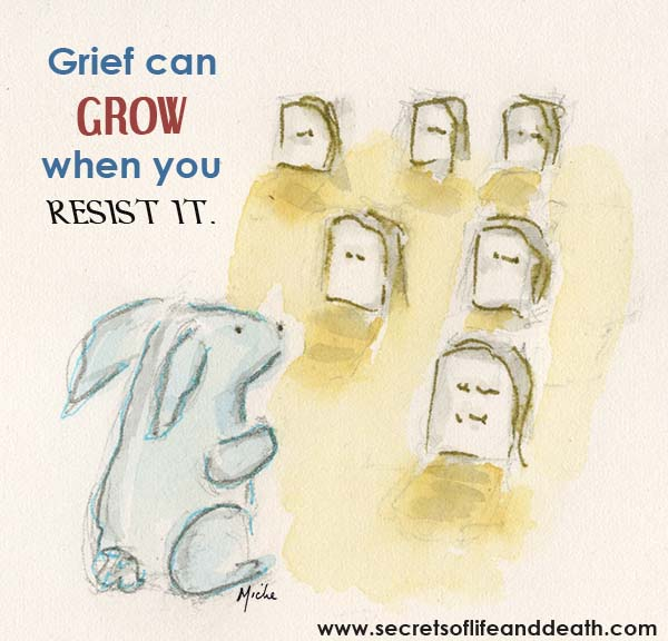 Bunny Grieving Loss.